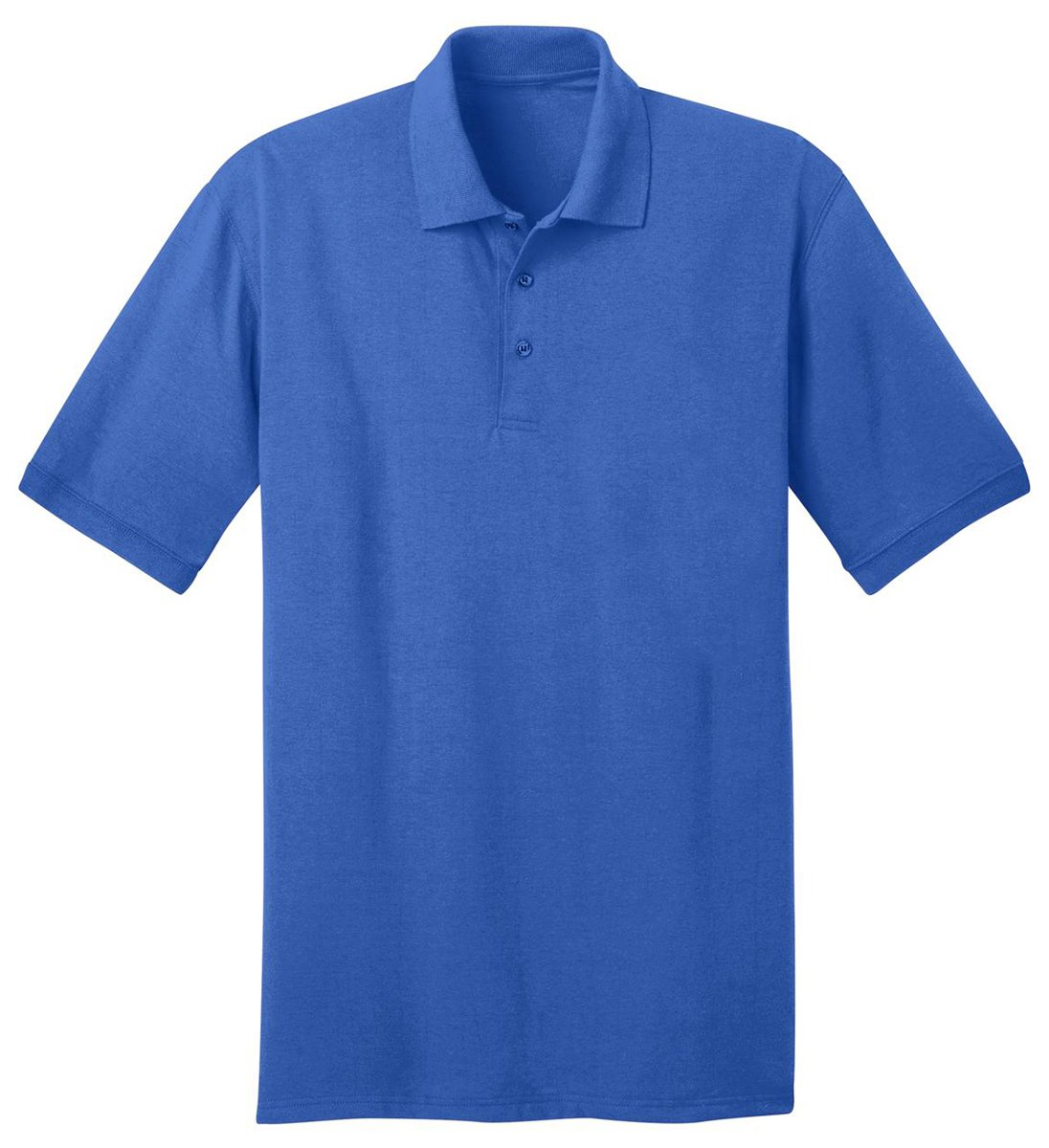 Port & Company Men's Big And Tall Knit Polo Jersey 3X Tall- Royal