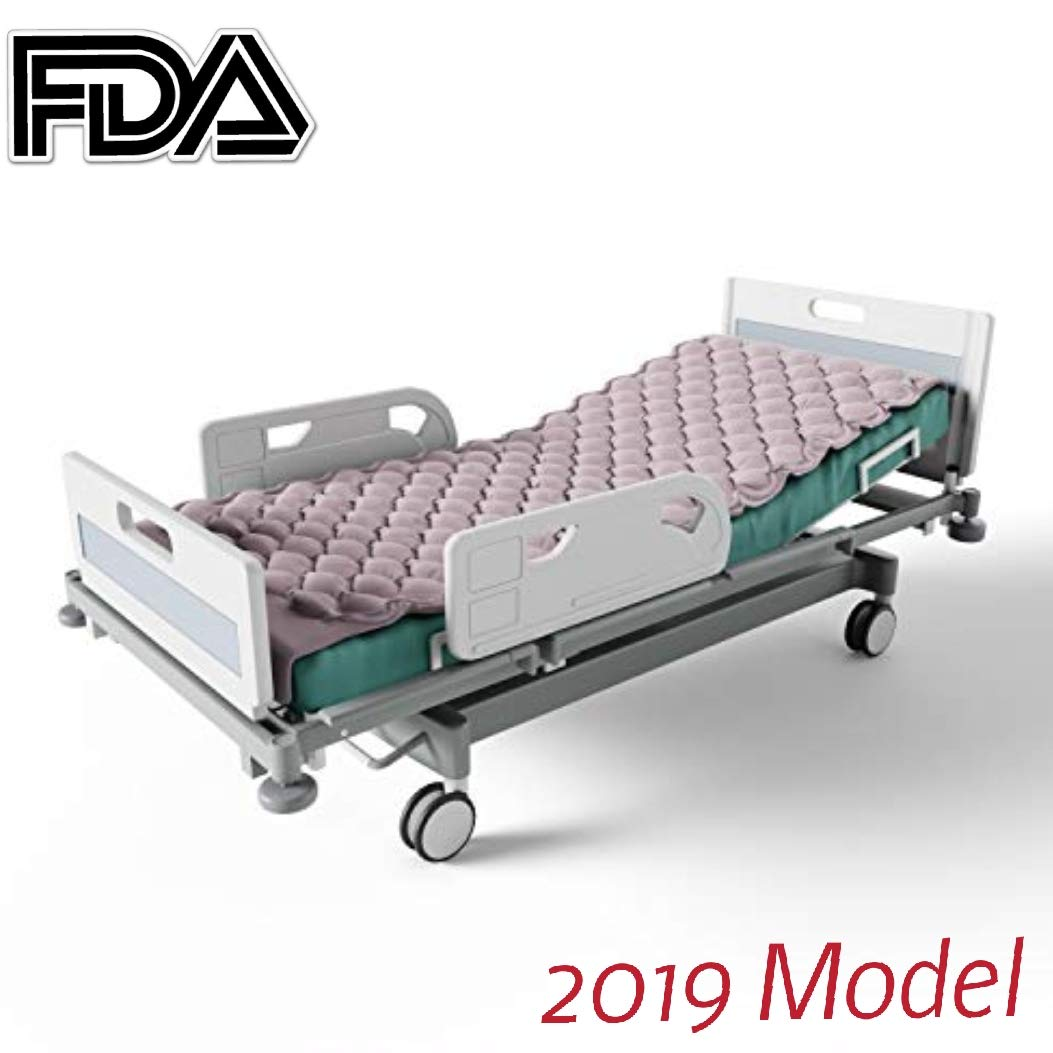 Premium Alternating Air Pressure Mattress for Medical Bed   Pressure Sore and Pressure Ulcer Relief   Includes Ultra Quiet Pump and Pad Topper   Fits Standard Hospital Bed