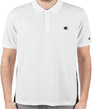 Champion Classic Logo Mens Polo Shirt White Short Sleeve Designer Fashion Top