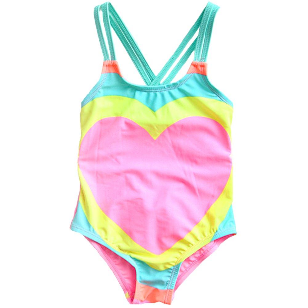 Lisianthus Girls Swimsuits One Piece Bathing Suit Tankini Swimwear 1-8T TLY0059