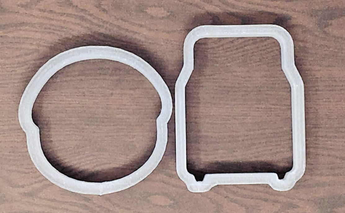 Bun in the Oven Cookie Cutter - American Confections - Baby Shower - Set of 2