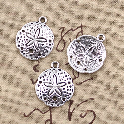 20pcs Charms Shell Starfish Antique Silver Charms Pendants for Making Bracelet Necklace Jewelry Findings Jewelry Making Accessory 25x21mm