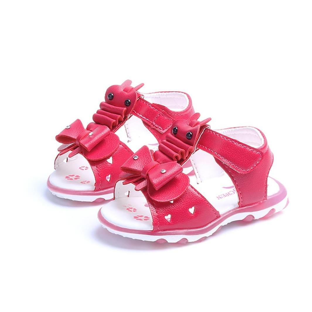 Sandalias NiñA Led Lights, Zapatos Planos De Chicas Conejo Crystal Bowknot Sandalias Zapatos De Led Luminoso Sandalias para NiñAs Calzado Zapatos De Vestir Zapatos Princesa