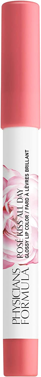 Physicians Formula Rose all day rose kiss all day glossy lip color, Love Letters, 0.15 Ounce