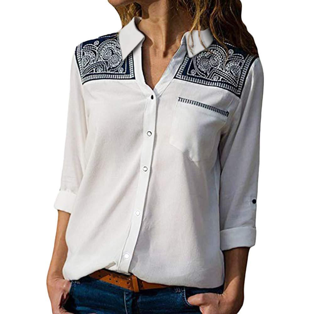 Chemise Tops Femmes, Xinantime Automne Hiver T-shirt à Manches Longues Impression Chemise Pour femmes Tops Blouse