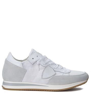6a9cf2391144 Philippe Model Sneaker Tropez Bianca E Grigia White
