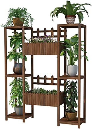 CATRP Soporte para Flores De Madera Escalera para Plantas con 3 Niveles Balcón Soporte De La Planta con Cubo De Flores Puesto de Flores (Size : 120cm): Amazon.es: Hogar