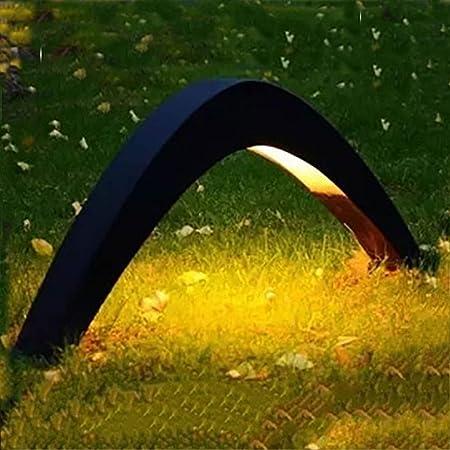 Vinmin Iluminación del Paisaje al Aire Libre, diseño Moderno LED luz de jardín, LED Arco Exterior Puente Puente Lámpara de césped Impermeable Negro Luz de césped: Amazon.es: Hogar
