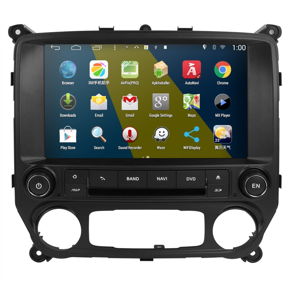 Rupse 10 inch HD Android 4.4.4 Car DVD Player GPS Navigation Stereo For 2014 2015 Chevy Silverado 1500