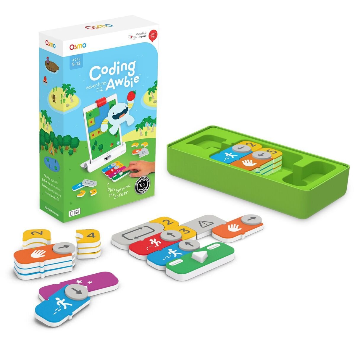 Osmo - Coding Awbie Game - Ages 5-12 - Coding & Problem Solving - For iPad and Fire Tablet (Osmo Base Required) by Osmo