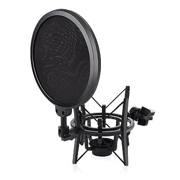 100% Wahr Mikrofon Stativ Faltbare Desktop Mikrofon Halterung Mit Shock Mount Mic Halter Clip Und Pop Filter Heimelektronik Zubehör