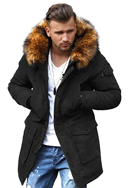 quality design e7734 063cd Rello & Reese Winter Parka mit Fell-Imitat Jacke Mantel E-7500