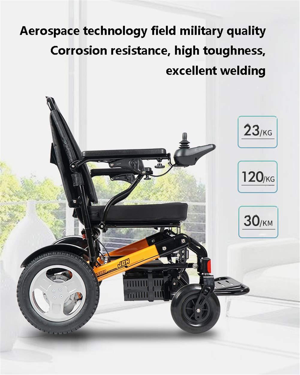 RSDPJ Silla de Ruedas eléctrica, Scooter para Ancianos, batería de ...