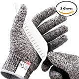 Platinum Oyster Glove No Cut Resistant High Performance Level 5 Protection, Food Grade All Sizes Perfect Gift for that Chef, Culinary cnc router, mandoline slicer, fillet knife sharpener (Medium)
