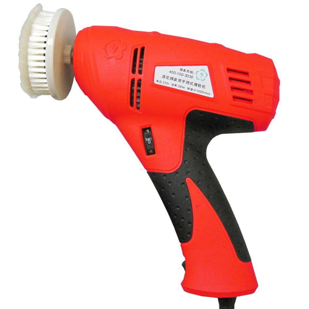 QFFL 靴ポリッシャー家庭用自動靴ポリッシャー手持ち式電気靴シャイナー靴洗濯機レッドブルー39 * 20 * 5cm クリーニングブラシ (色 : Red) B07H54T5B4 Red