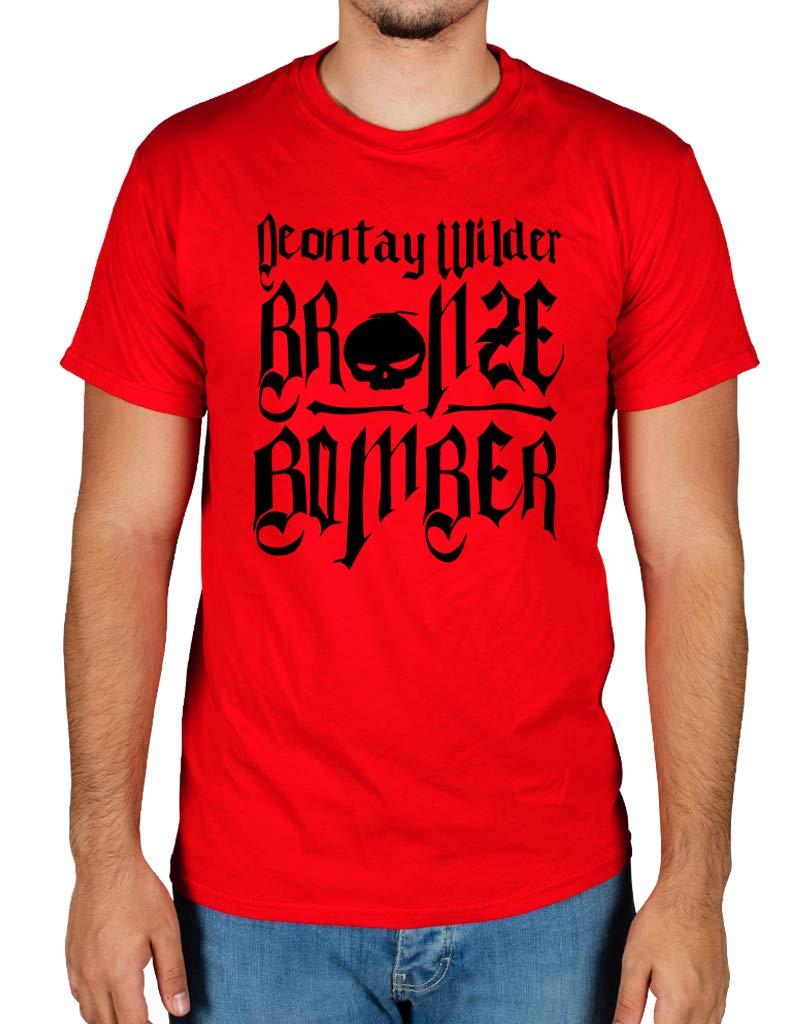 Ulterior Clothing Deontay Wilder Bronze Bomber Tattoo Skull Logo Tshirt