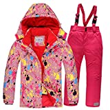 Warm Girls Clothing Set Jacket + Overalls Boys Clothes Set Snow Suits Children Suit Windproof 5
