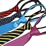 kilofly Pre-tied Adjustable Zipper Tie Kids Boys