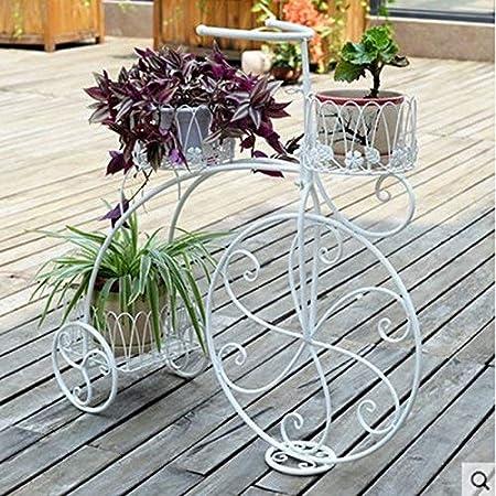 Lxm111-Flower stand Hierro Bicicleta Soporte de Flor Sencilla ...