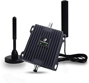 Phonetone Cell Phone Signal Booster for Car, SUV and Truck | Boost 4G LTE Data and Volte for Verizon AT&T T-Mobile | Dual Band 12/13/17 Cellular Vehicle Repeater Kit | FCC Approved
