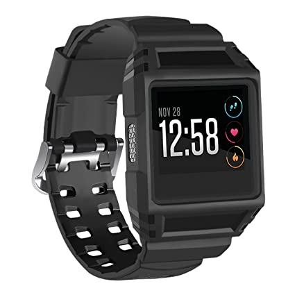 2291bd577c039 Allbingo Fitbit Ionic Accessory Bands, Rugged Pro G-Shock Like Protective  Manly Case Strap