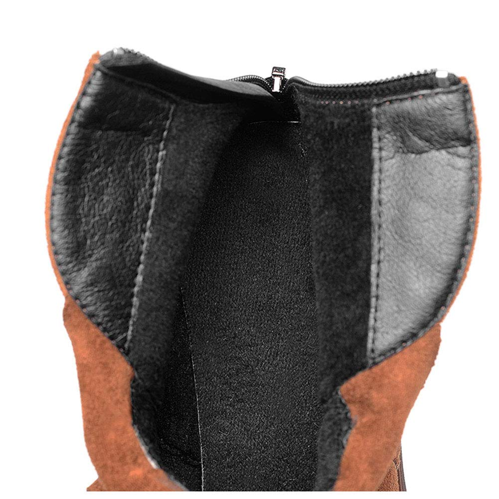 Damenschuhe HWF Frauen Kurze Stiefel Stiefel Stiefel weibliche Winter High Heels wies Dicke warme Baumwolle Schuhe Absatzhöhe 6cm (Farbe   Caramel Farbe größe   40) 174147