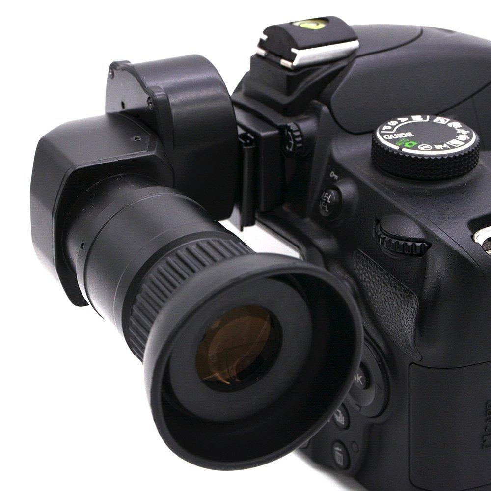 SODIAL - Visor de ángulo Recto para cámara Pentax (1,25 x -2,5 x ...