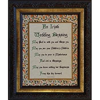 Amazon.com: Irish Wedding Blessing - Framed Inspirational Prayer ...