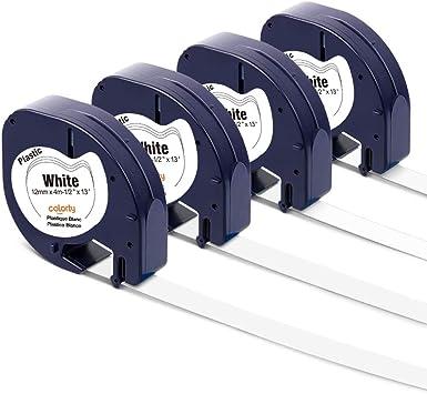 Dymo Letratag Tape 12mm x 4m Plastic