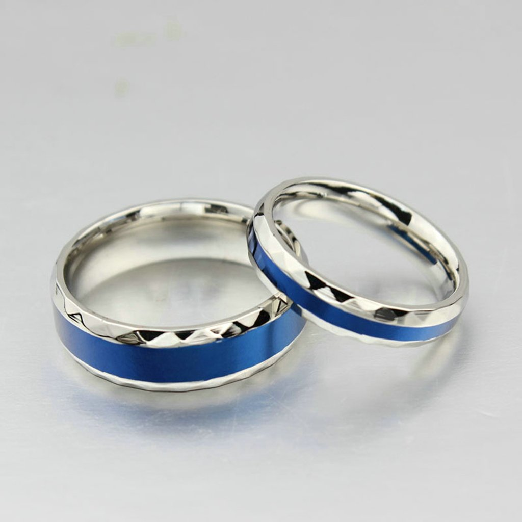 Bishilin 6MM 316l Stainless Steel Two Tone Wedding Band Engagement Rings for Men