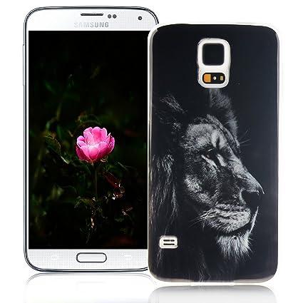 XiaoXiMi Funda Samsung Galaxy S5 Carcasa de Silicona Caucho Gel para Samsung Galaxy S5 Soft TPU Silicone Case Cover Funda Protectora Carcasa Blanda ...