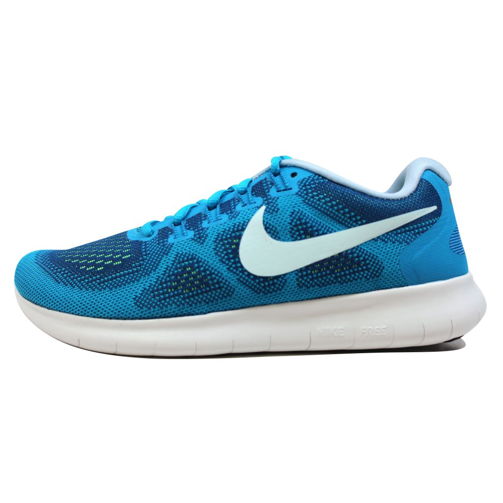 NIKE Womens Free RN 2017 Running Trainers 880840 Sneakers Shoes (US 8, Gym Blue Glacier Blue 401)
