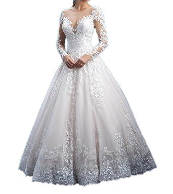 Milano Bride Weiss Hochwertig Spitze Hochzeitskleider Brautkleider ...