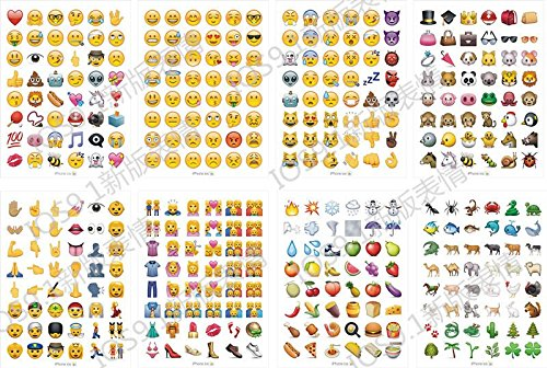 picture about Printable Emoji Stickers identify HighMount Most recent Emoji Stickers 28 Sheets with Delighted Faces Youngster Stickers in opposition to apple iphone Fb Twitter