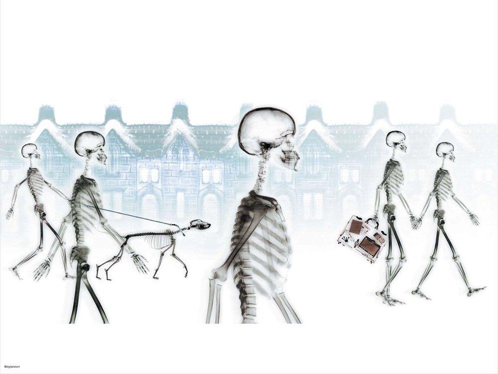 Skeletons Snowy Village ebook