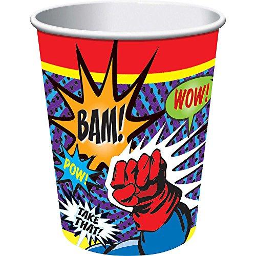 Superhero 9 Oz Cups (8 Pack) (Ideas For Superhero Costume Party)