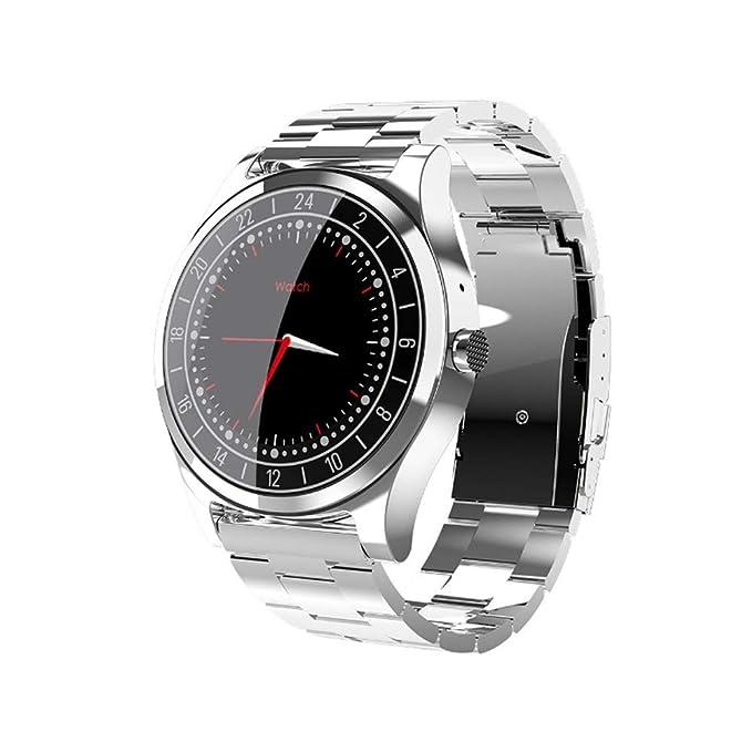 AIOEJP Hombres Mujeres Reloj Bluetooth general Cinturón de acero Pulsera deportiva inteligente Modo multideportivo Frecuencia cardíaca Monitoreo del ...
