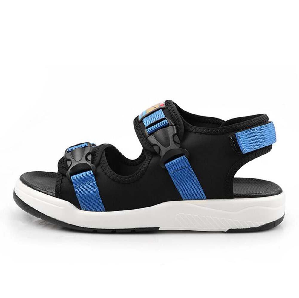 Sandalias para Hombres Sandalias de Moda Casual Marea Estudiantes de Verano Versión Coreana de Las Gruesas Sandalias Deportivas Nuevo 40 EU|Azul