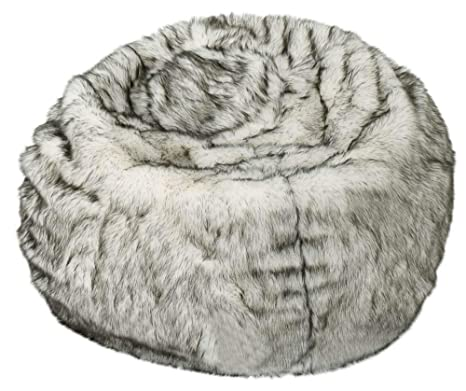 Incredible Amazon Com Noble House 3 Ft Faux Fur Beanbag In White And Machost Co Dining Chair Design Ideas Machostcouk