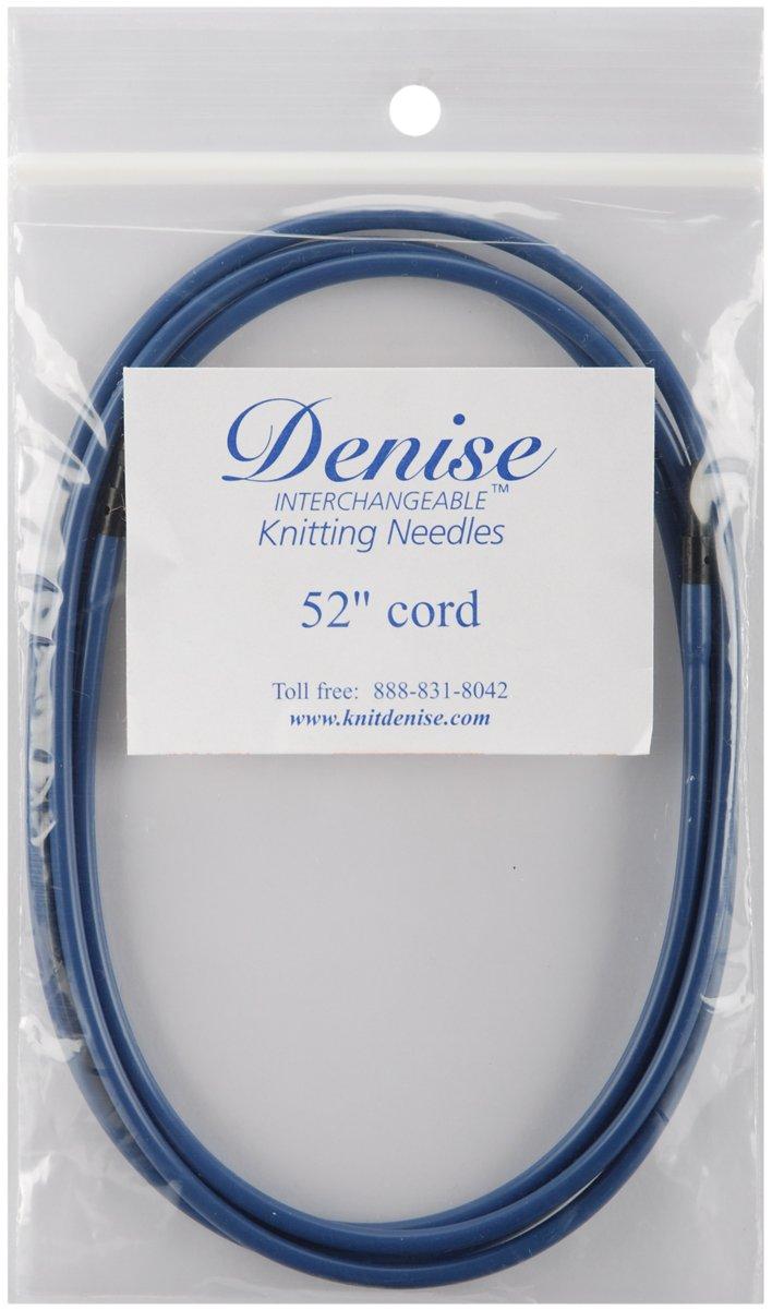 Denise - Cordón largo de punto y Crochet, 52 pulgadas, azul