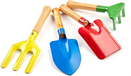 Kids Gardening Tools Set Safe Gardening Tools Trowel Rake Accessories Carry Case