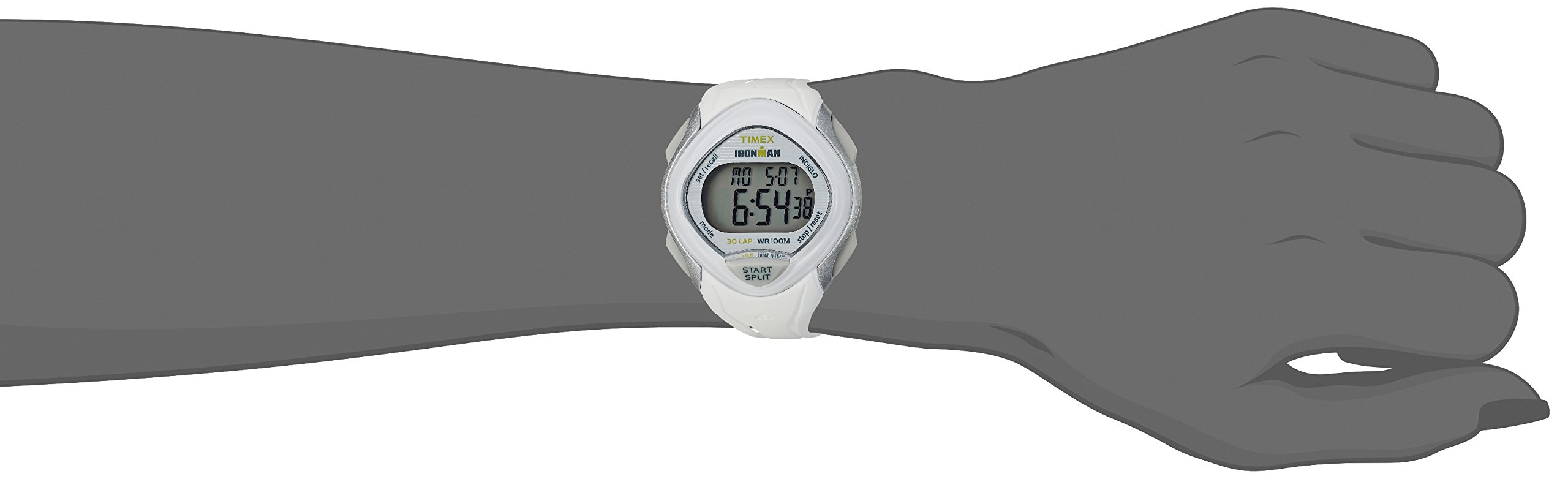 Timex Women's TW5M12400 Ironman Sleek 30 White Resin Strap Watch by Timex (Image #3)