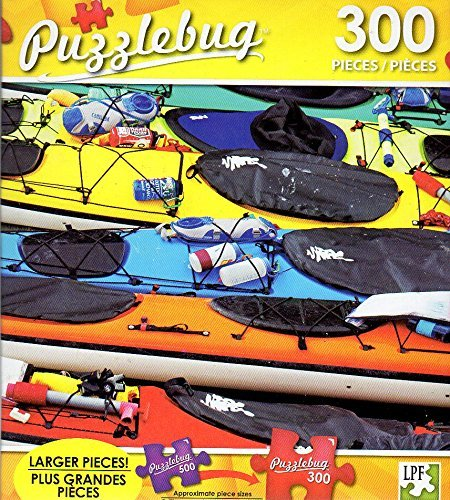 Price comparison product image Colorful Sea Kayaks,  Alaska - 300 Large Pieces Jigsaw Puzzle - Puzzlebug - p 003