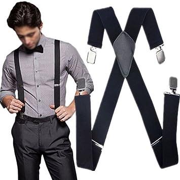New Mens Suspenders Adjustable Clip On Braces Formal Wedding Party