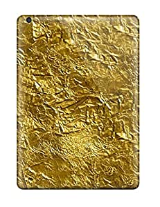 Snap-on Case Designed For Ipad Air- Gold Foil Texture