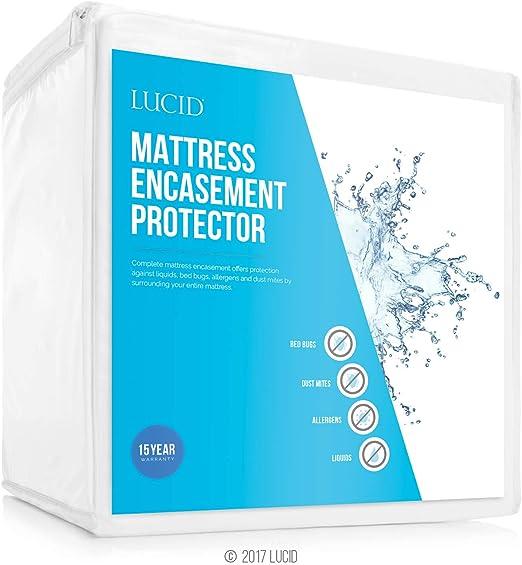Completely Surrounds Mattress for LUCID Encasement Mattress Protector