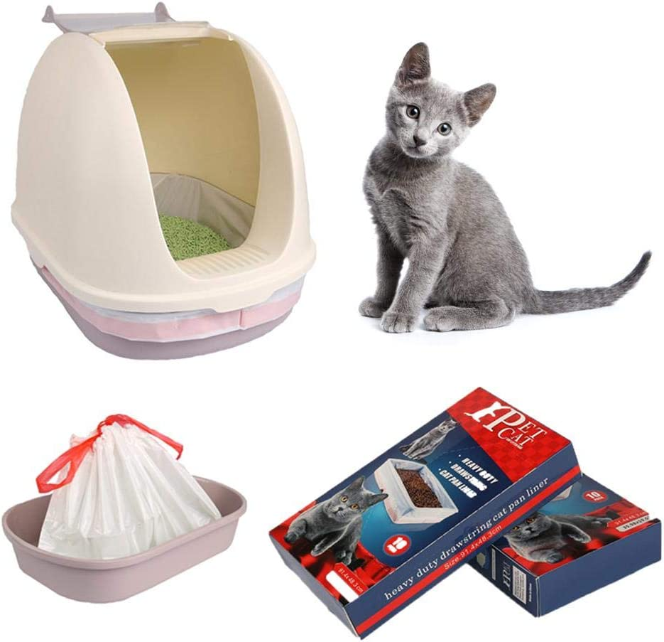 Dire-wolves Durable Cat Litter Box Liners With Drawstrings Cat Litter Pan Bags Toy Storage Bag 10 Pieces
