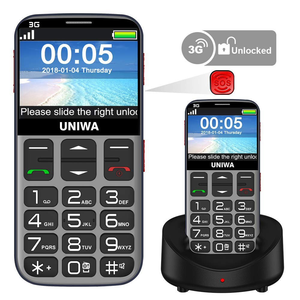 Mosthink Unlocked Cell Phones for Elderly People, Unlocked Cell Phone for Seniors SOS Senior Phone Senior Cell Phone with Big Buttons and High Volume, Easy To Use Basic Phone 3G AT&T Compatible