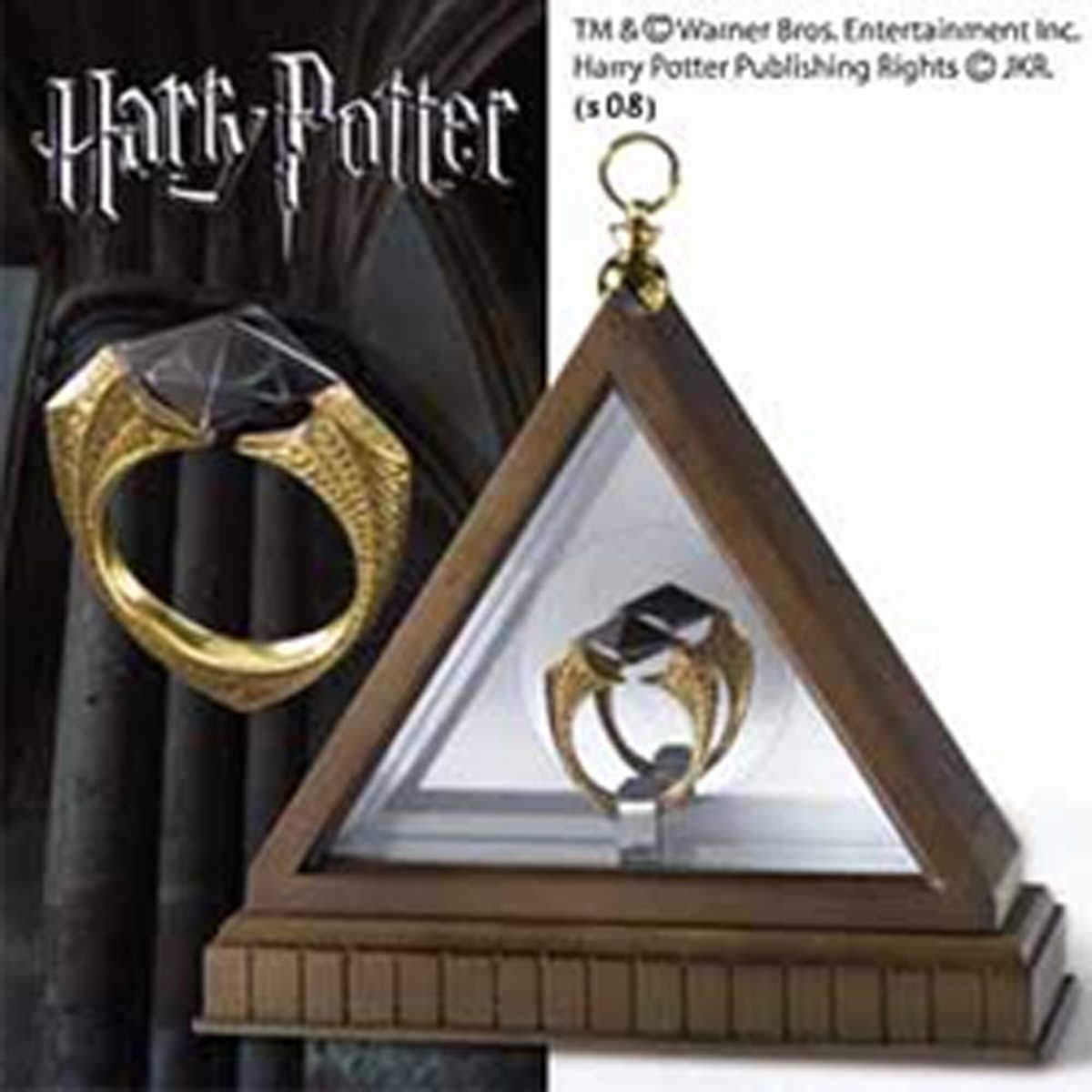 Noble Collection - Harry Potter Replica 1/1 Lord Voldemort's Horcrux Ring (gold-pla