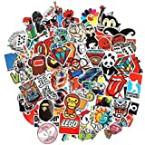 100 Pieces Set Cool Stickers Waterproof Vinyl Stickers For Laptop car Snowboard Motorcycle Bicycle Phone Mac Computer DIY Keyboard Car Luggage Decal